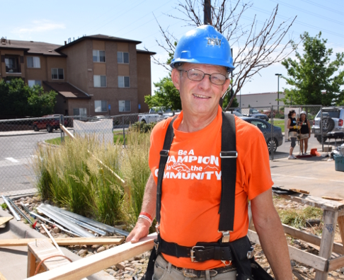 David Ziegler is one of the most dedicated Volunteers at Habitat Metro Denver